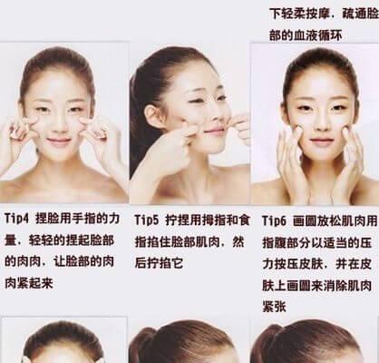 Acupression du visage