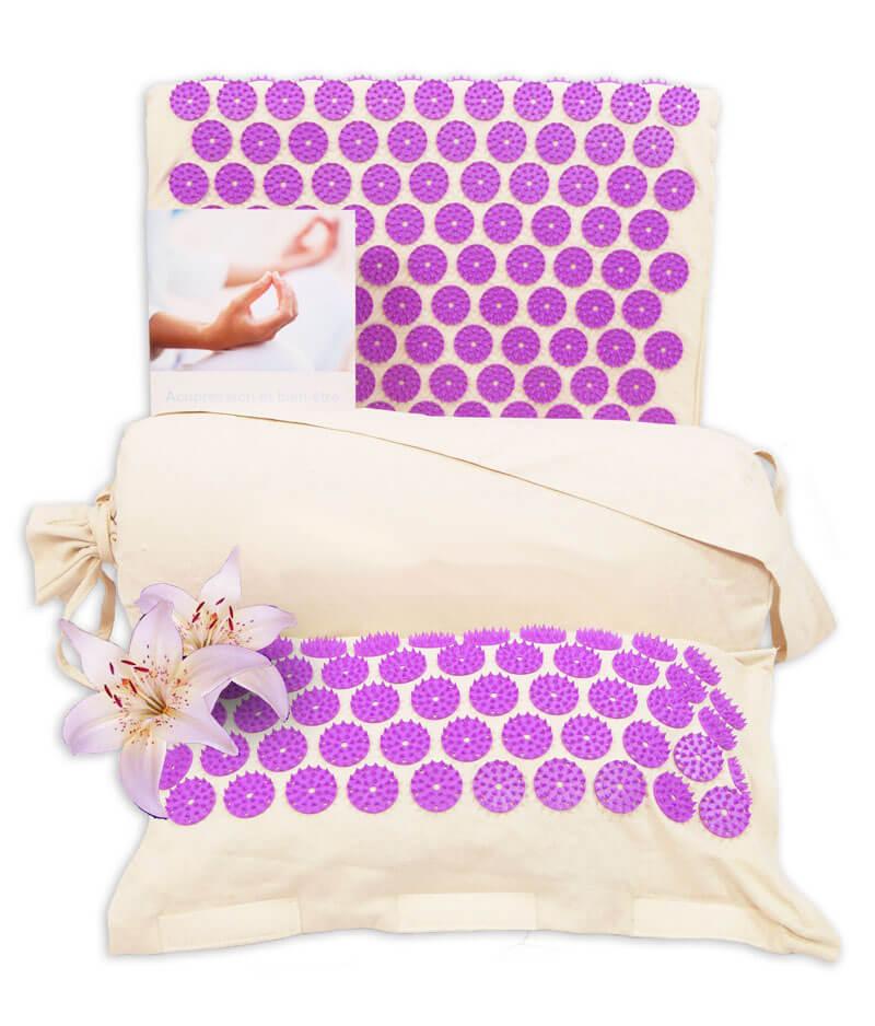 tapis d'acupression biologique Zen violet
