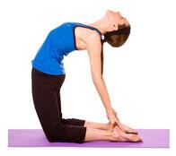 Asana yoga: Chameau (Ushtrasana)