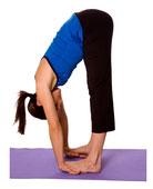 Asana yoga: Cigogne (Uttanasana)