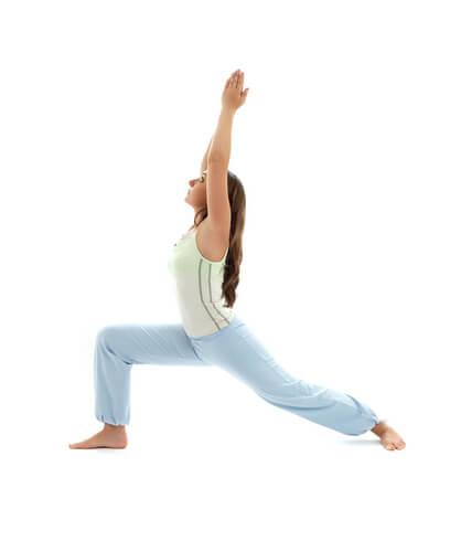Pose de Yoga Guerrier 1 Virabhadrasana 1