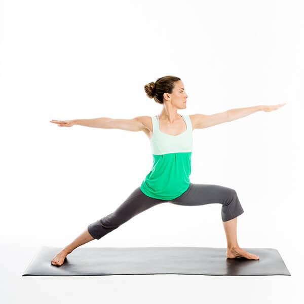 Pose de Yoga Guerrier 2 Virabhadrasana 2